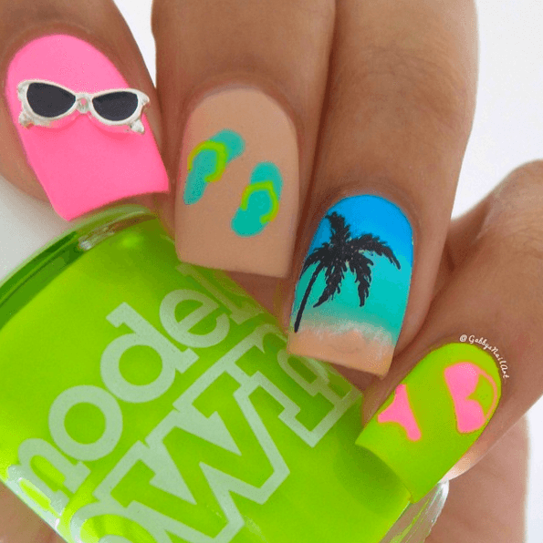 Dorable Diseño De Uñas De Civil Bandera - Ideas Para Esmaltes ...